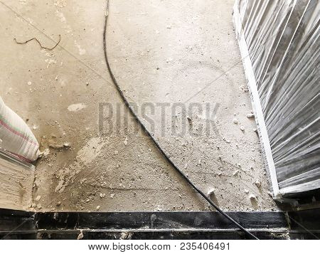 Material For Repairs In An Apartment Is Under Construction Remodeling Rebuilding And Renovation. A C