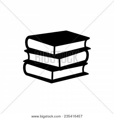 Book Icon Vector In Modern Flat Style For Web, Graphic And Mobile Design. Book Icon Vector Isolated