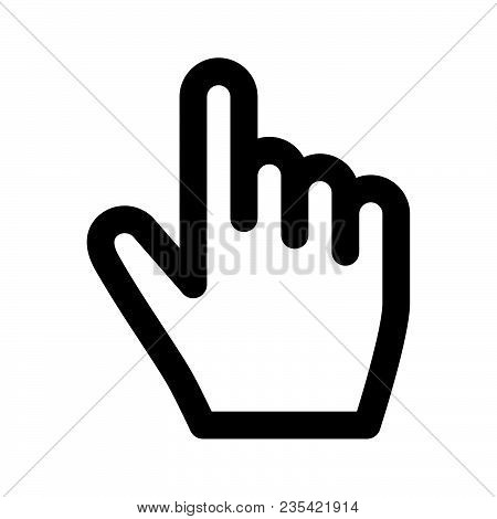 Click Hand Cursor Icon Isolated On White Background. Click Hand Cursor Icon Modern Symbol For Graphi