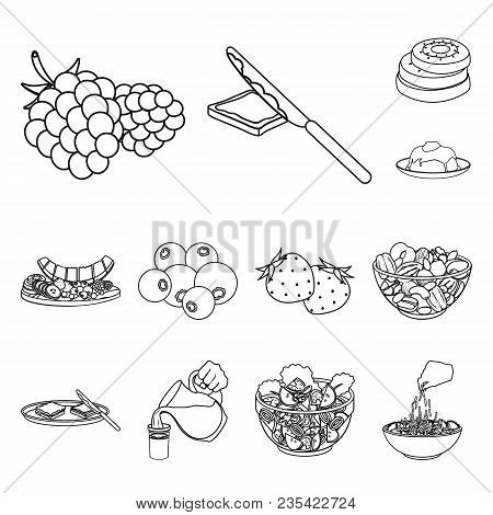 Dessert Fragrant Outline Icons In Set Collection For Design. Food And Sweetness Vector Symbol Stock