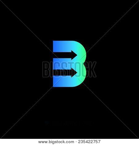 B Monogram. B Delivery Service Logo. Logistic Icon.