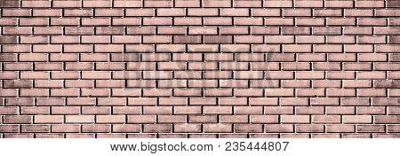 Grunge Brickwork Background. Brick Wall Texture Brown Color