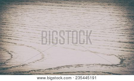 Old Light Scratched Wood Texture. Retro Wooden Background