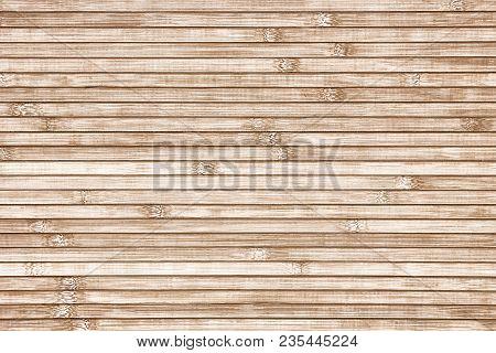 Bamboo Horizontal Slats Background. Natural Wood Texture