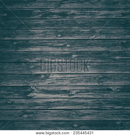 Old Black Knotty Wood Texture. Dark Background Of Rough Wooden Boards