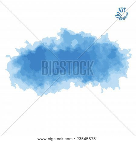 Painted Vector Background Clouds And Air. Beautiful Hand Drawn Backdrop. Usable For Website, Social