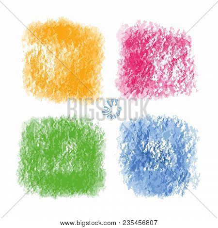 Four Old Painted Vector Backgrounds. Hand Drawn Art Sketch. Usable For Website, Social Media And Pri