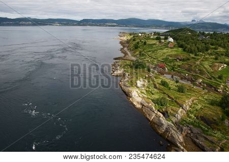 Saltstraumen, Famouse Tidal Stream In Norway, View From Bridge