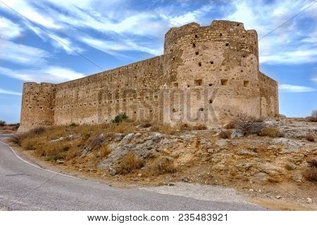 Aptera koulos fortress on Crete, built by the Turks in the 19th century to oversee restive Greeks  in the Apokoronas region