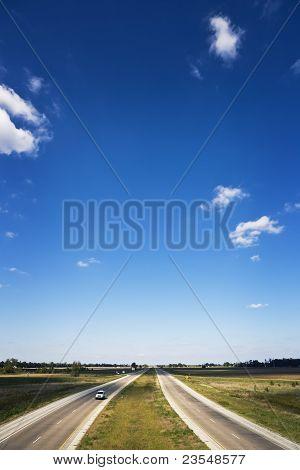 Divided Road & Blue Skies