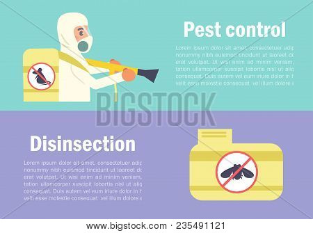 Disinsection Vector. Cartoon. Isolated Art Flat Pest Control