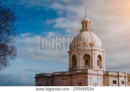White Cupola Of The National Pantheon In Sun Light. Lisbon. Lisboa Lissabon.