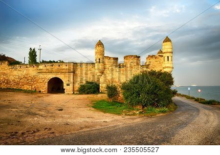 The Enikale Fortress On The Black Sea Coast. The City Of Kerch, Crimea. Built By The Ottomans In The