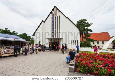Oslo, Norway - July 21, 2017: Viking Ship Museum Is Located At Bygdoy Island In Oslo, Norway. Viking