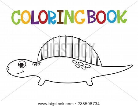 Cute Cartoon Dino Coloring Book. Vector Illustration