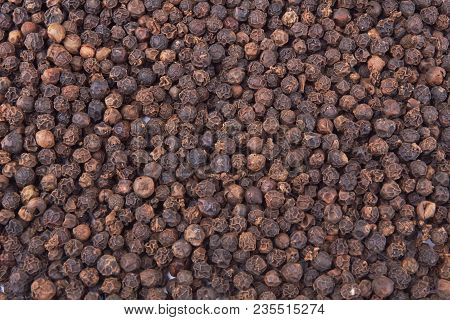 Black Pepper Seeds Use As A Background