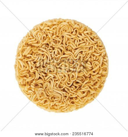 Instant Noodles Dry On A White Background