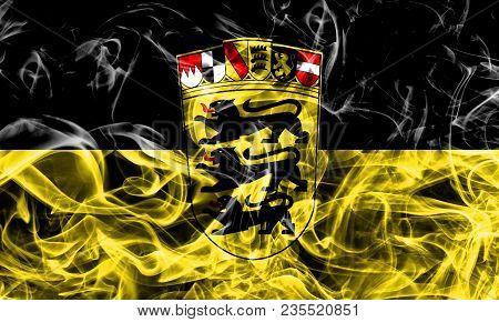 Baden Wurttemberg Smoke Flag, Germany State, Flag