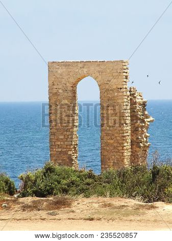 Ruins Of The Gates Of The Punic Port In Mahdia. Tunisia