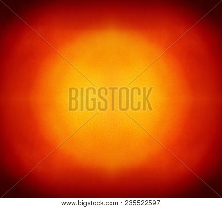 Abstract Colorful Background With Grunge Noise Grain Texture And Vivid Color Gradient Of Brown Corne