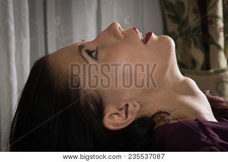 Sexual Woman Being Strangled