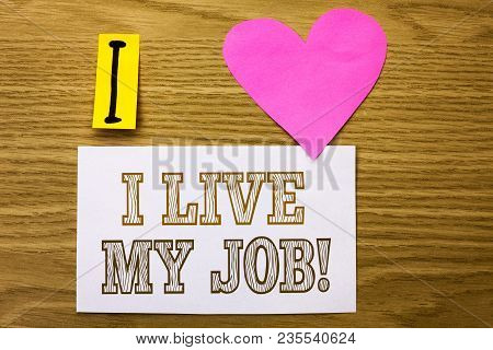 Word Writing Text I Live My Job Motivational Call. Business Concept For Be Immerse In And Love Work