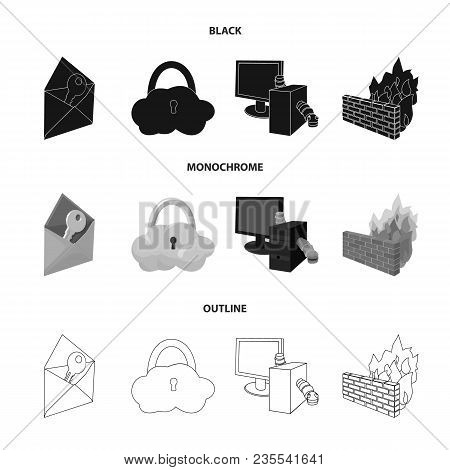 System, Internet, Connection, Code .hackers And Hacking Set Collection Icons In Black, Monochrome, O