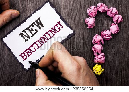 Conceptual Hand Writing Showing New Beginning Motivational Call. Business Photo Text Fresh Start Cha
