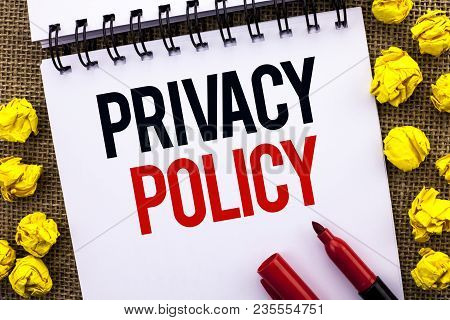 Handwriting Text Privacy Policy. Concept Meaning Document Information Security Confidential Data Pro