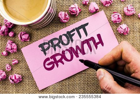 Conceptual Hand Writing Showing Profit Growth. Business Photo Text Financial Success Increased Reven