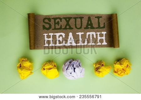 Handwriting Text Sexual Health. Concept Meaning Std Prevention Use Protection Healthy Habits Sex Car