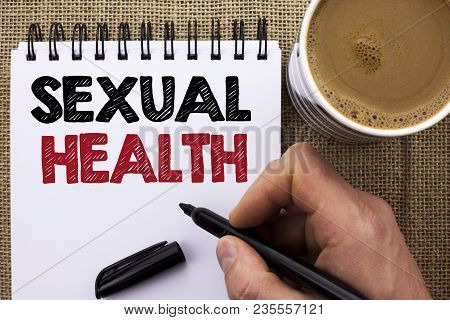 Text Sign Showing Sexual Health. Conceptual Photo Std Prevention Use Protection Healthy Habits Sex C