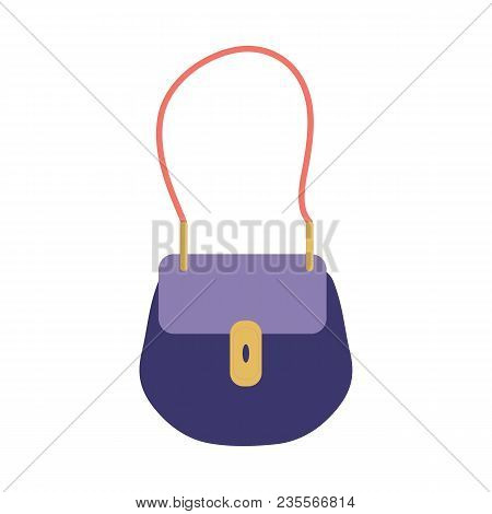 Small Woman Handbag Icon. Little Purse In Classic Design. Elegance Female Shoulder Bag With A Strap