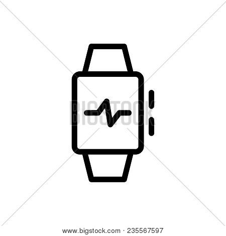 Smart Watch Flat Icon. Single High Quality Outline Symbol Of Info For Web Design Or Mobile App. Thin