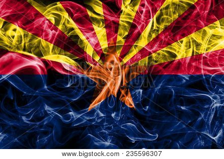 Arizona State Smoke Flag, United States Of America