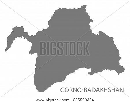 Gorno-badakhshan Map Of Tajikistan Grey Illustration Shape