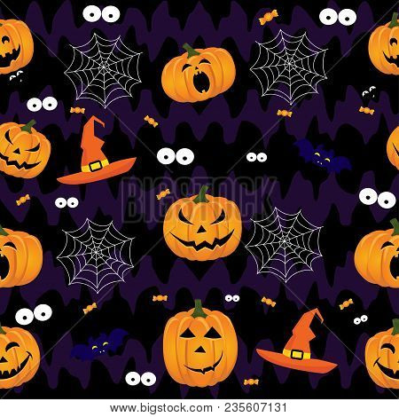 Abstract Halloween Pattern For Girls,boys, Kids, Halloween, Clothes. Creative Vector Background With