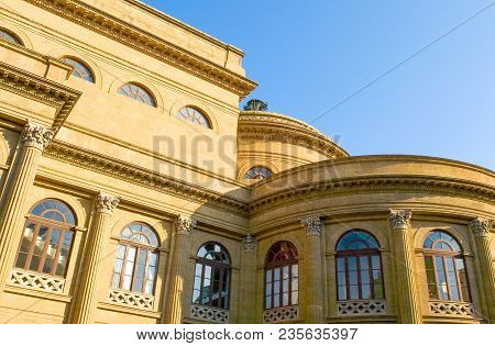 Italy, Sicily, Palermo, The Architectures Of The  Massimo Theatre