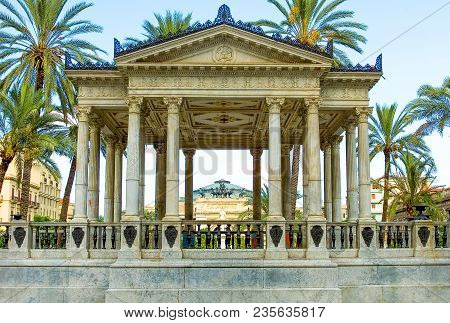Italy, Sicily, Palermo, The Kiosk Of The Music In Politeama Square