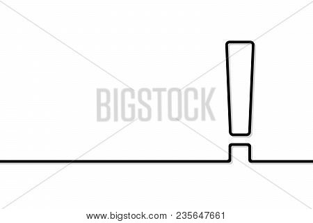 Exclamation Point In Line Art Style. Vector Illustration.
