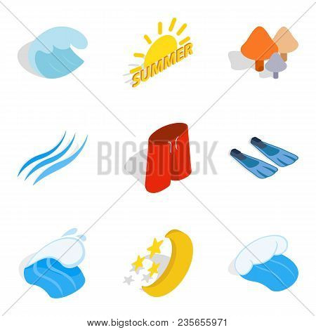 Peace Icons Set. Isometric Set Of 9 Peace Vector Icons For Web Isolated On White Background