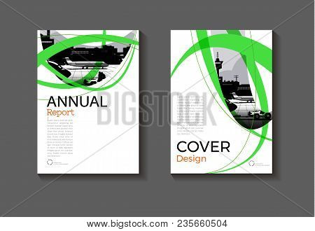 Green Layout Abstract  Background Modern Cover Design Modern Book Cover Brochure Cover  Template,ann