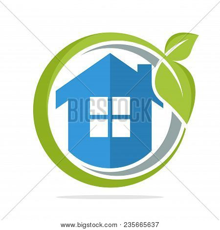 The Icon Logo Illustration With The Concept Of Environmentally Friendly Home Energy Management
