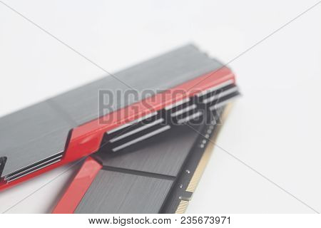 High Performance Ddr4 Computer Memory Ram Isolated On White