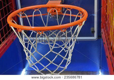 Horizontal Basketball Hoop Net And Rim Arcade Game