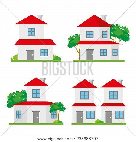 House Home Family Neighborhood City Building Address Architecture Vector
