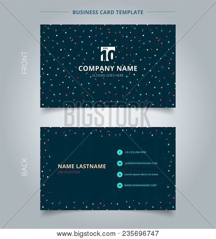 Creative Business Card And Name Card Template Simple Geometric Triangles, Squares, Circles Colorful