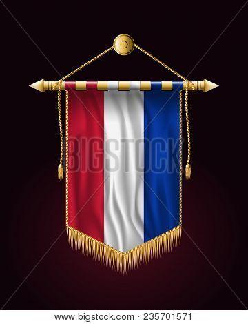Flag Of Netherlands. Festive Vertical Banner. Wall Hangings