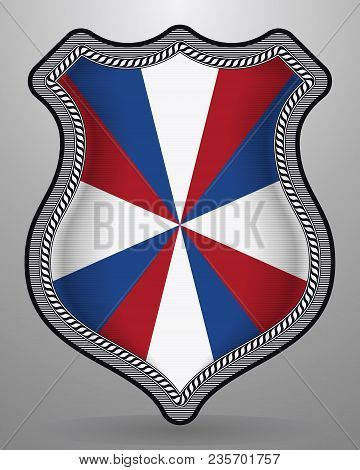 Dutch Flag The Prinsengeus. Vector Badge And Icon