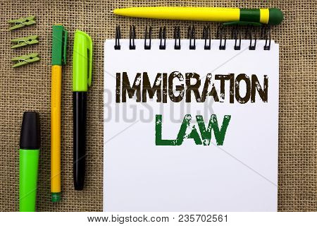 Word Writing Text Immigration Law. Business Concept For National Regulations For Immigrants Deportat